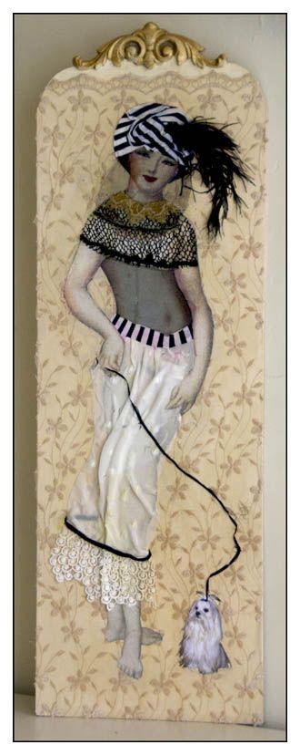 """Margriet Thissen/ Wandpaneel YaYa. Ca 120x50 cm. Verkocht.  Margriet Thissen, wall panel YaYa. Approx  47x19,5"""". Sold."""