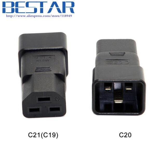 IEC320 IEC 320 C20 to C21 C19 Male to Female Extension PDU UPS Power Adapter connector Rated 10A 250V #Affiliate