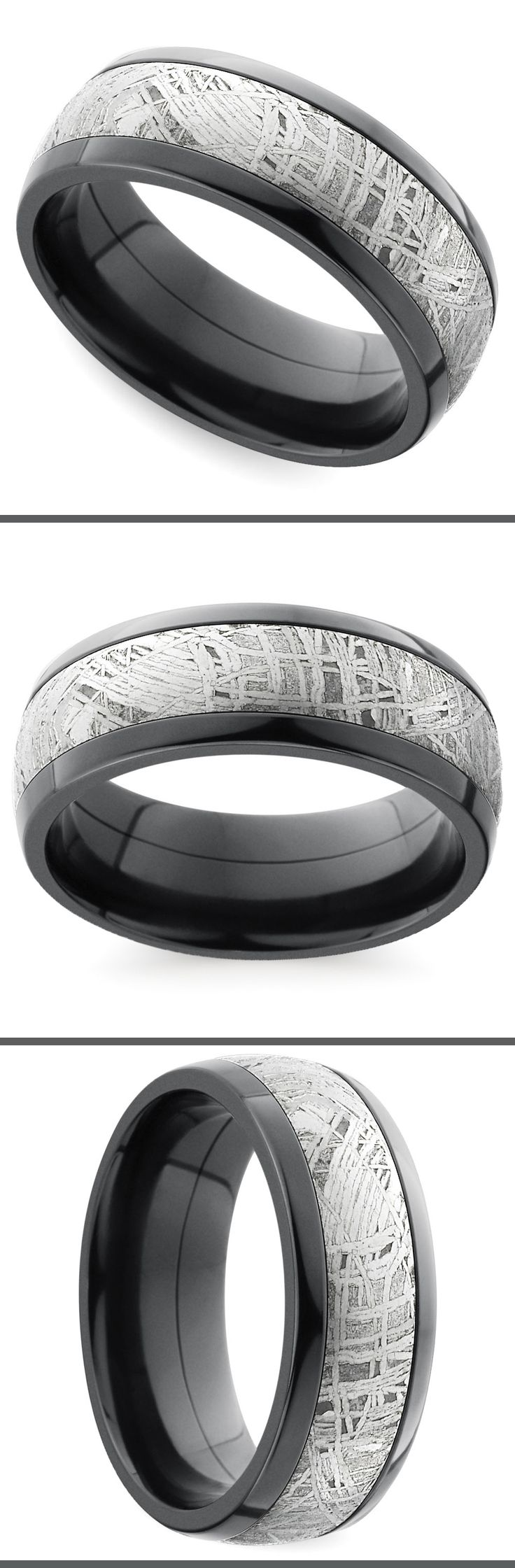 mens wedding rings tire tread wedding band A classic 7 mm domed band is made modern with black zirconium and a genuine Gibeon