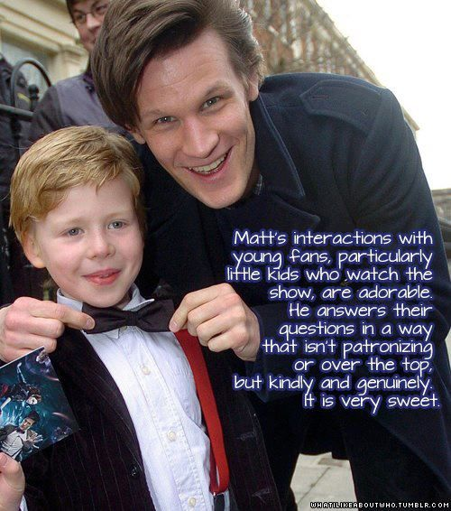 Both Matt Smith and David Tennant treat their little fans with such respect! Makes me love them that much more!!