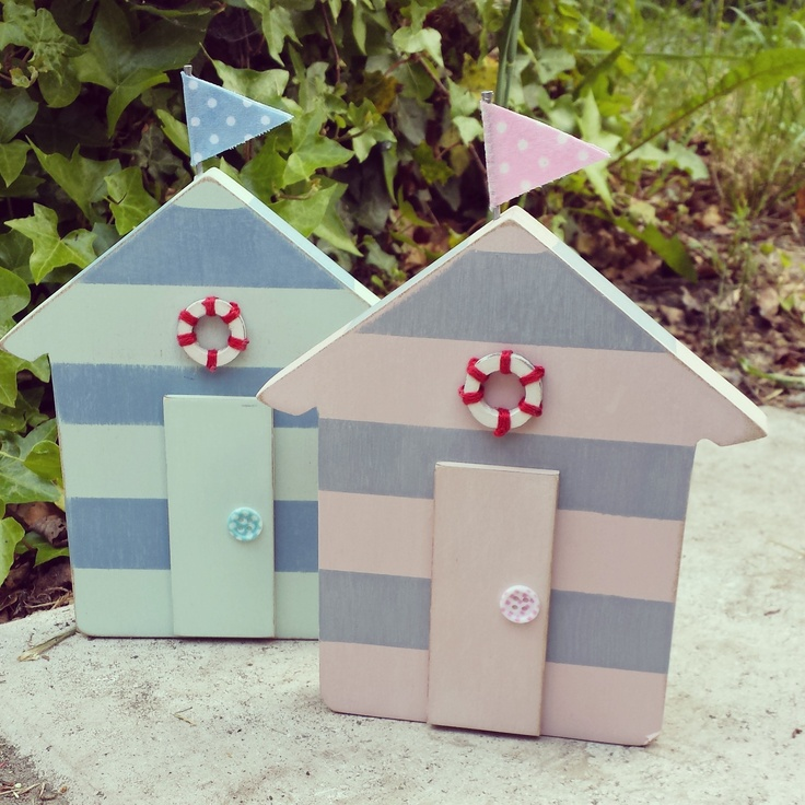 Life's a beach with our pretty striped Beach Huts Email:thepeartree@live.co.uk