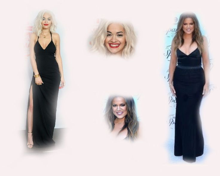 black long dress, Rita Ora VS Khloe Kardashian Odom fashion diva who-wore-it-better celeb celebrity
