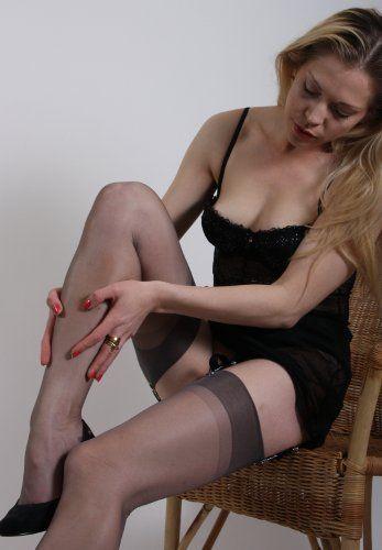Sexy vintage retro nylon lingerie heels toys PornerBros