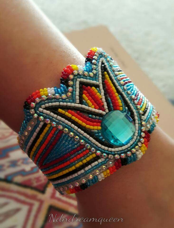Beaded cuff by jessica coombs