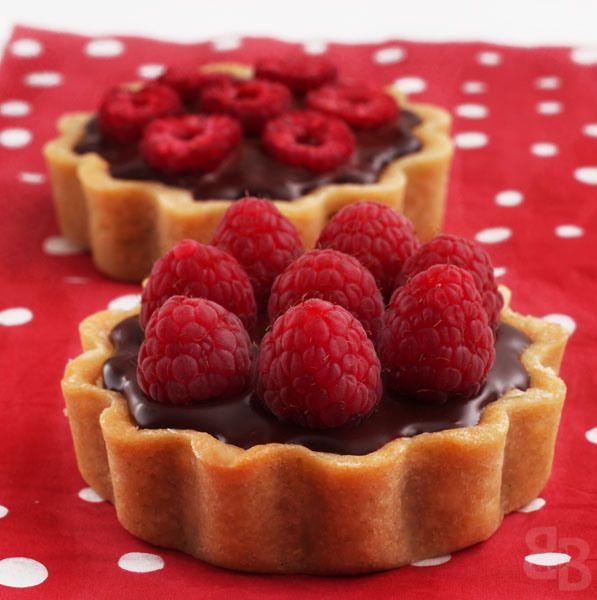 Pierre Herme chocolate raspberry mini tarts   Bread et Butter