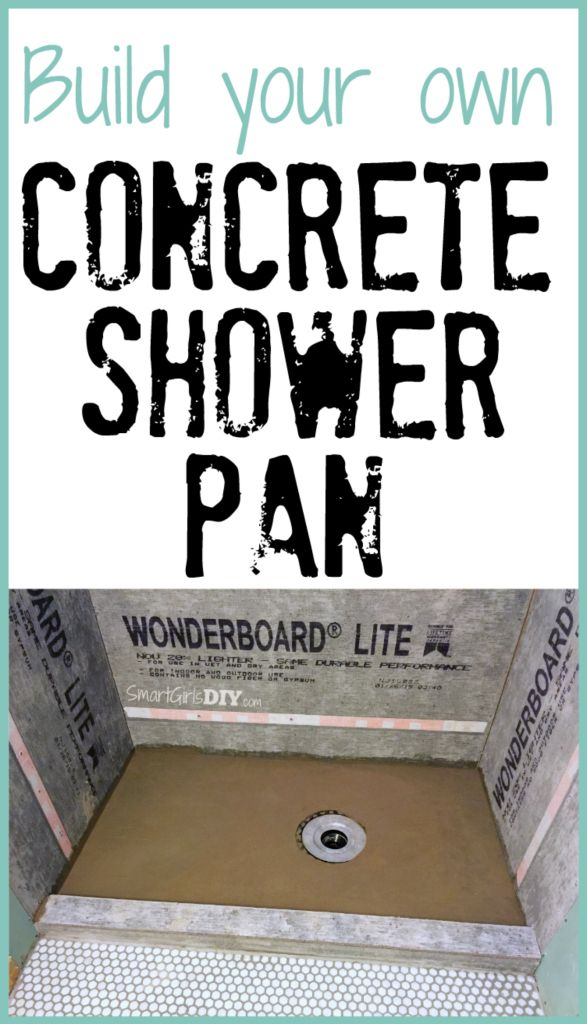 Build your own concrete shower pan it isn 39 t nearly as for Build your own bathroom