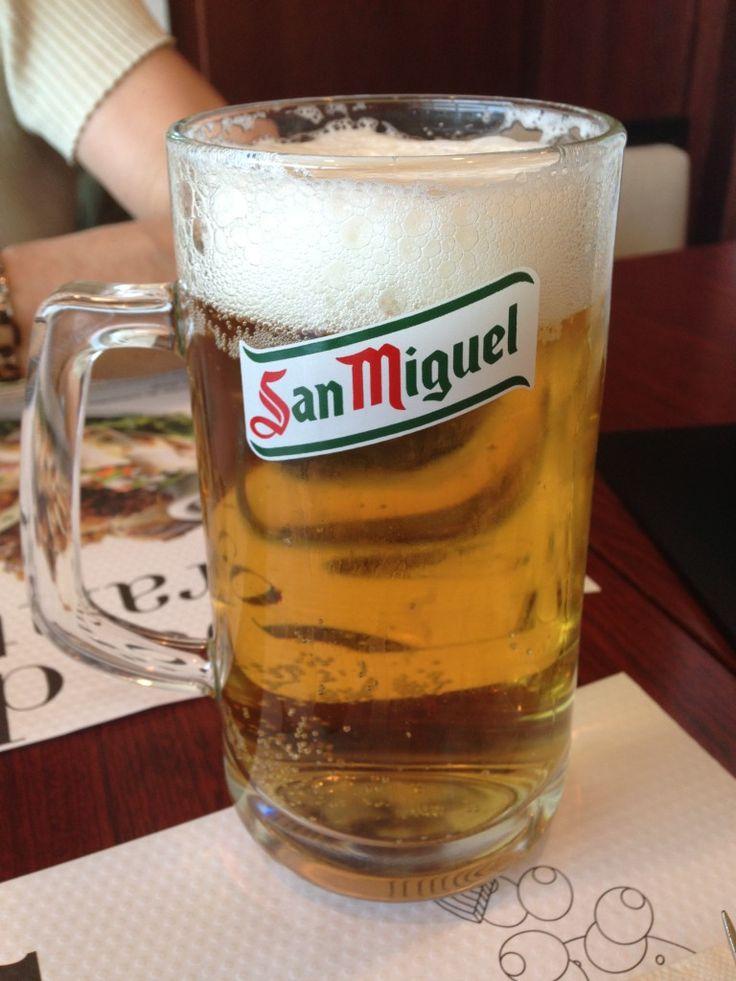 San Miguel draft - El Cortes Ingles: Pamplona, Spain