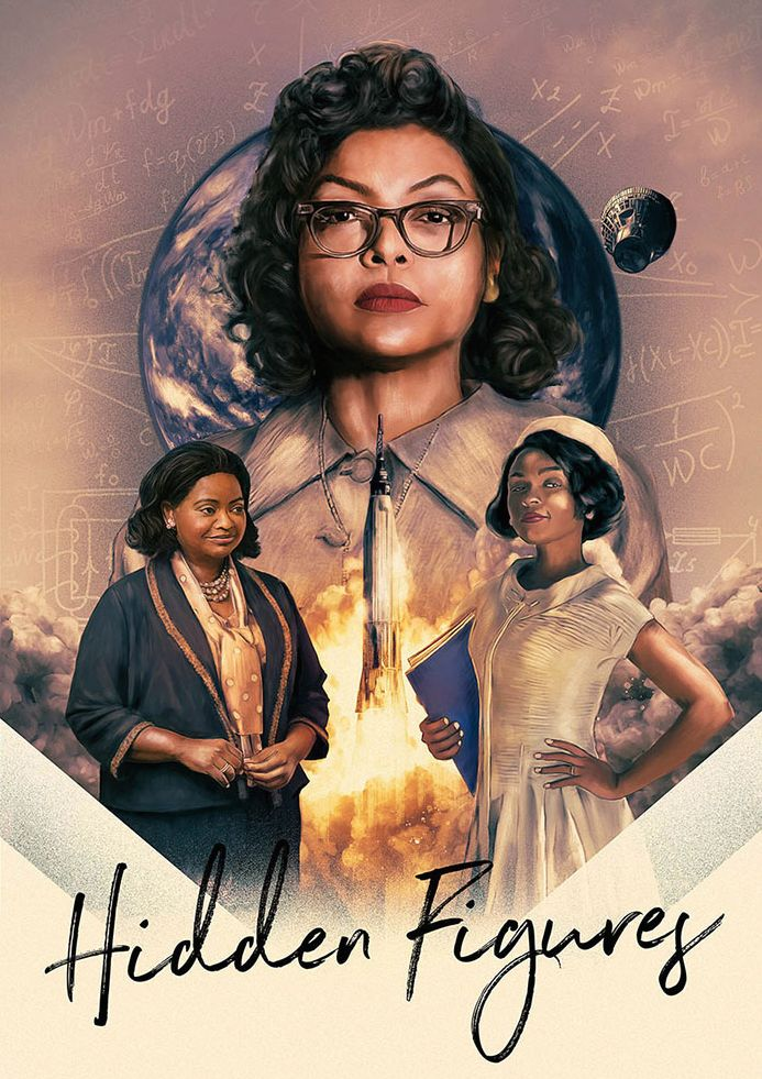 "thepostermovement: ""Hidden Figures by Rich Davies """