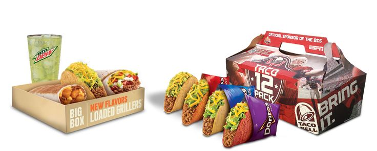 Featured Menu Items: Big Box Menu  Taco 12 Pack | Taco Bell