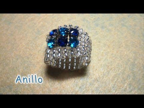 DIY -Anillo de cristalitos azules 2º parte - Ring of blue crystallites 2nd part - YouTube