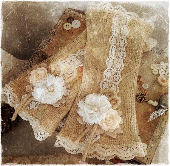 Embellished Mittens by bonziebridal on Etsy, $40.00