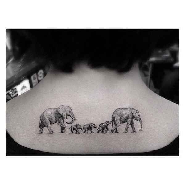 Tattoo, Elefant