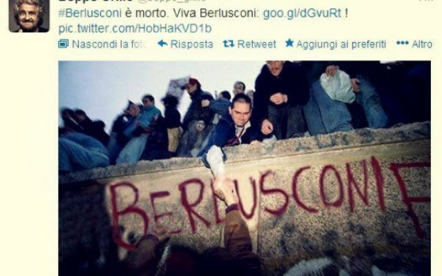 Grillo fra i primi a cinguettare... Tempi duri per il Pidimenoelle senza stampelle!. #grillo #morto #vivo #pidiellemenoelle #rete