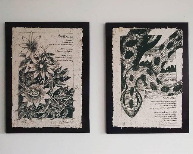 Cuadros en papel reciclado técnica serigrafía  Art on recycled paper , Serigraph  #arte #papelreciclado  #serigrafia #cuadros