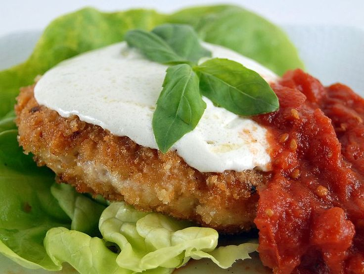 Chicken Parmigiana Burgers Recipe — Dishmaps