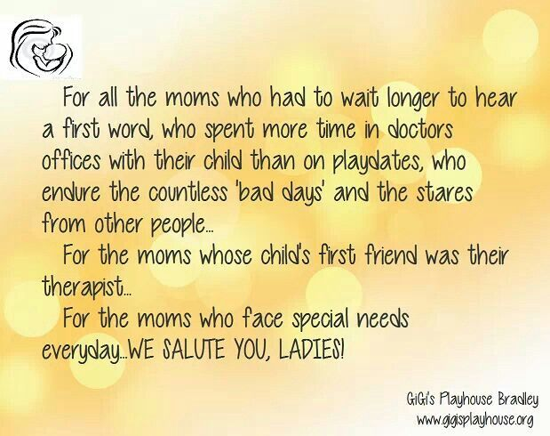 Salute to special needs parents!