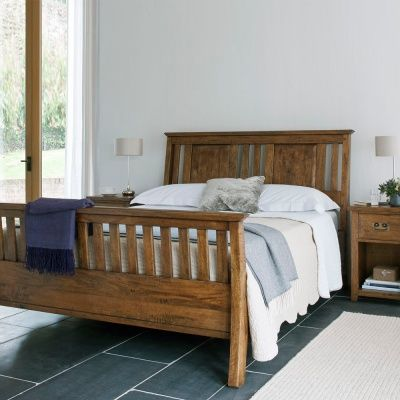 The new frontier sleigh bed high end bedroom furniture for Bedroom furniture high end
