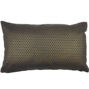 Sierkussen honeycomb foil koperkleur 30x50 € 16,95