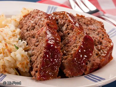 Down Home Meat Loaf - This old-fashioned dinner recipe is just like Grandma's! We like to pair this one with a side of mashed potatoes or green beans. Yum!