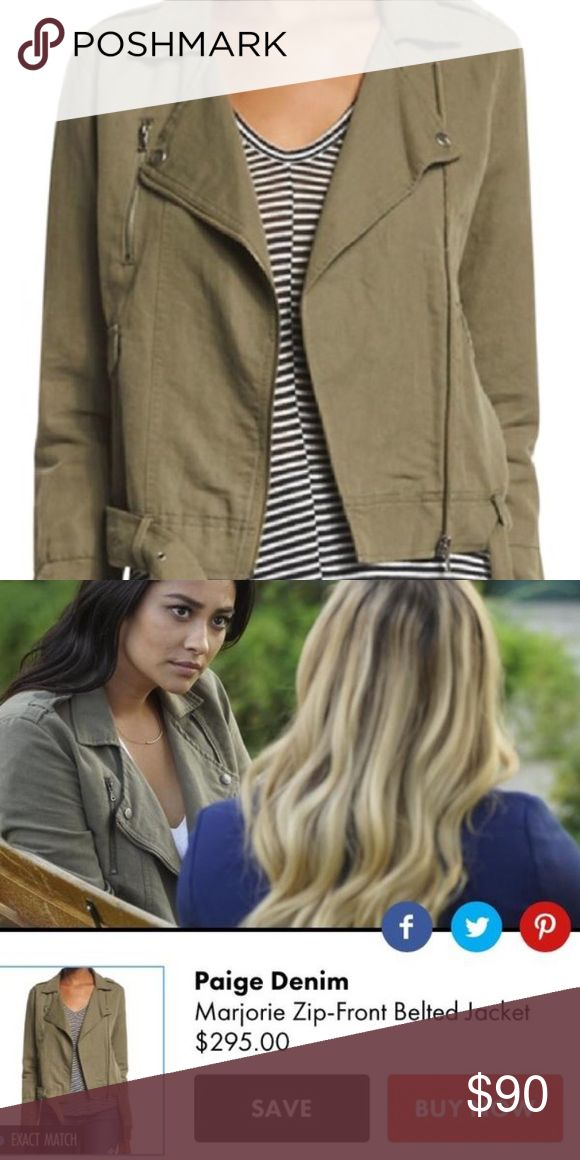 Paige bomber jacket as seen on Pretty Little Lies Paige Marjorie zip-up belted jacket worn only once size XS PAIGE Jackets & Coats