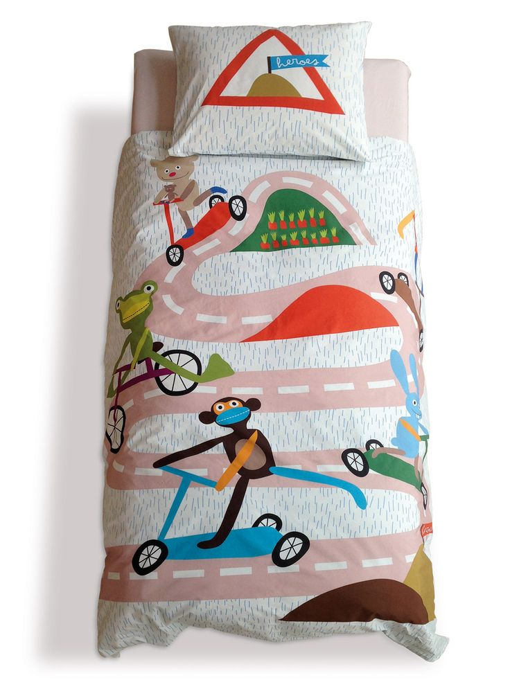 Race / kids bed linen / lavmi