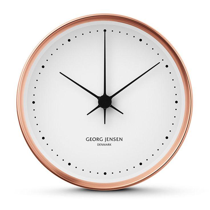 Henning Koppel veggklokke fra Georg Jensen, design av Henning Koppel. En fantastisk klokke med et st...