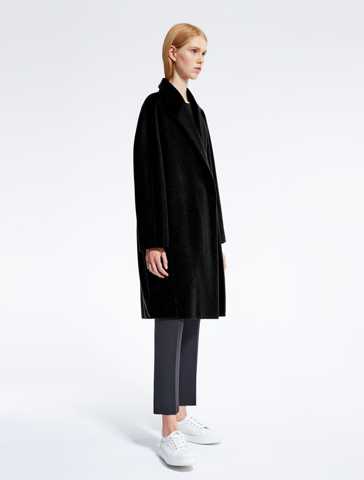 "Cashmere coat, black - ""GALLI"" Max Mara"