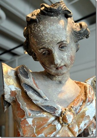 Beautiful Patina. So sad!French Brocante, Peel Painting, French Shabby, Gardens, Angels, Beautiful Patinas, Antiques Statues, Art Dolls, Beautiful Statues