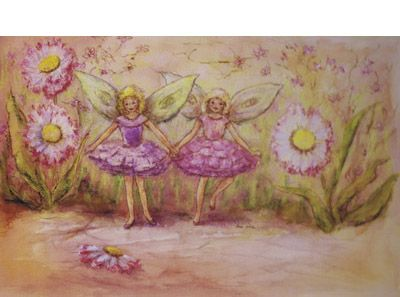 Signed limited edition print 'Flower Fairies' by June Evelyn from 'Phoebe`s Book of Fairy Stories'. Available at Books Illustrated. http://www.booksillustrated.com.au/bi_prints_indiv.php?id=43&image_id=294