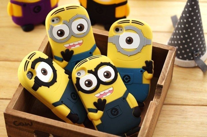 3D Cute Cartoon Soft Silicone Despicable Me Yellow Minion Case Cover for iphone 6 6s Plus 4 4s 5 5s SE Rubber Phone Bags Capa
