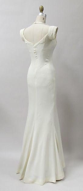 Evening dress Designer: Charles James (American, born Great Britain, 1906–1978) Date: 1933 Culture: American Medium: rayon