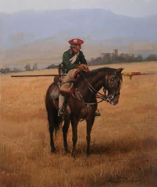 Lancero de Navarra en Galaz, obra de Augusto Ferrer-Dalmau