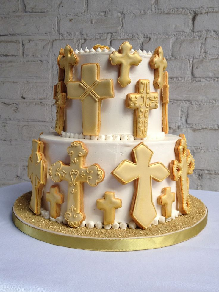 17 best images about first communion cakes for boys on pinterest first holy communion cross - Holy communion cake decorations ...