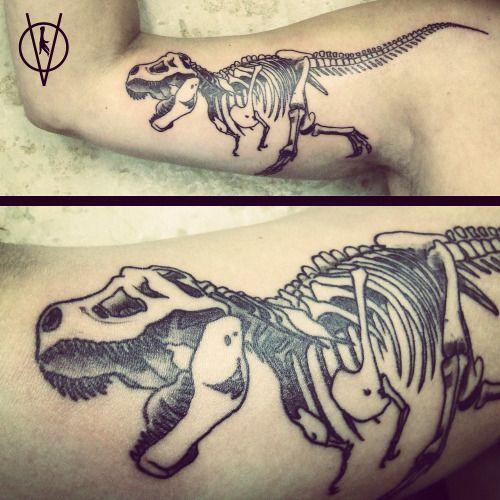Tyrannosaurus Rex Skeleton Tattoo | www.imgkid.com - The ...