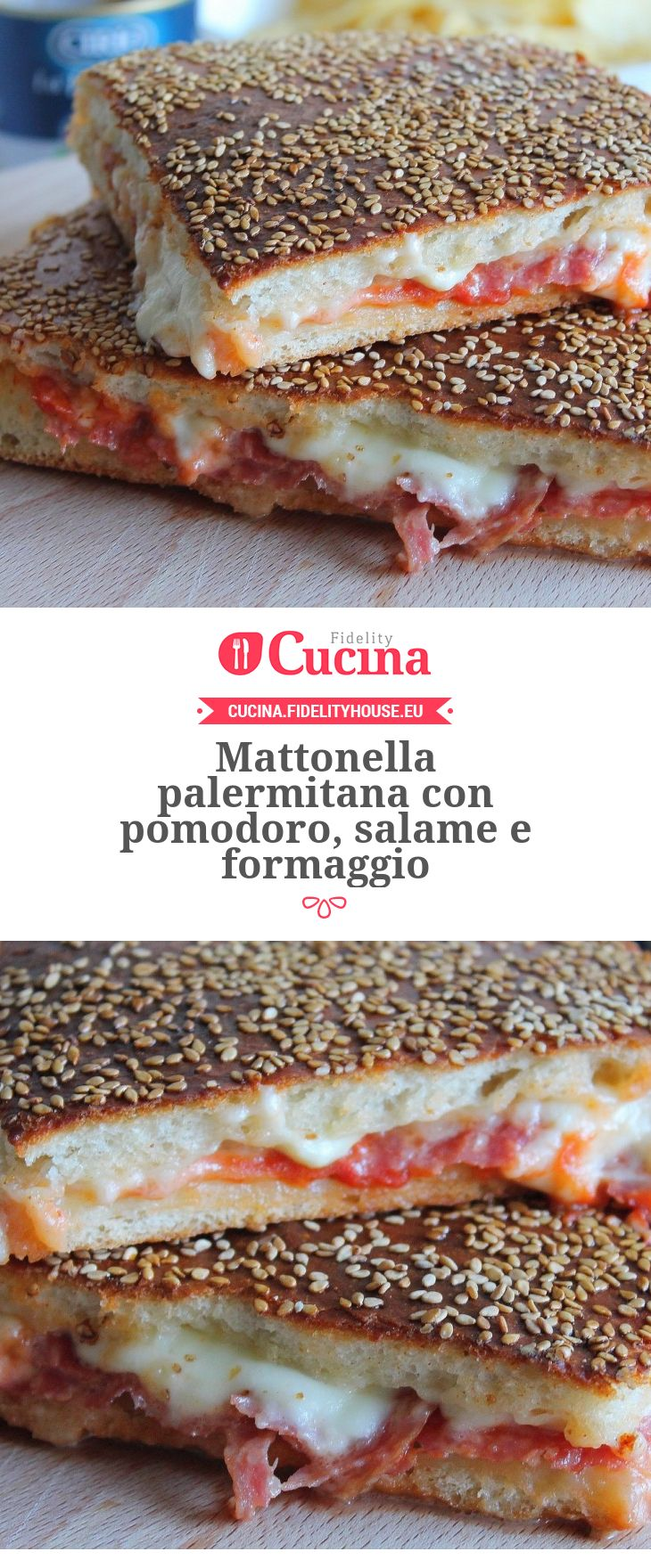 Mattonella palermitana con pomodoro, salame e formaggio