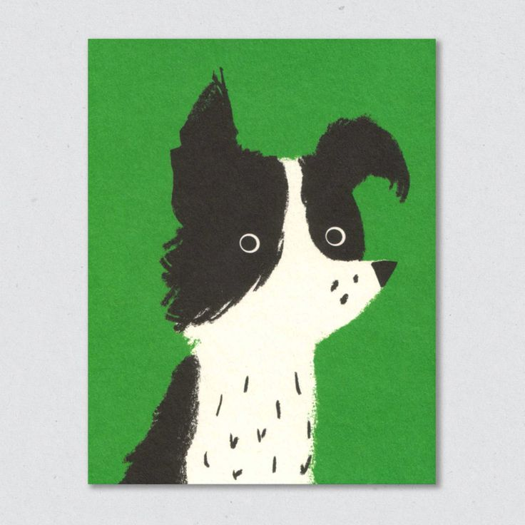 lisa jones studio recycled greeting card, sheep dog
