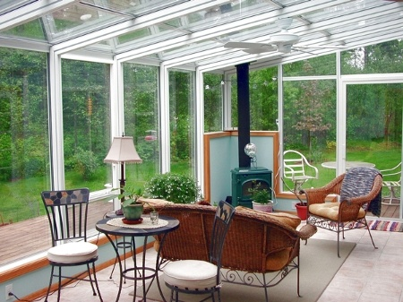 Solarium With Wood Burning Stove Sunrooms And Stoves