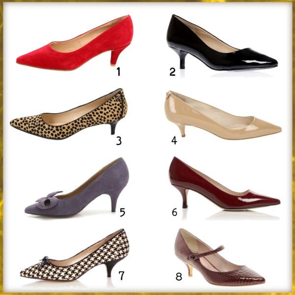Karen Millen short heels / L.K.Bennett low heel pumps, $160 / Dune low heels