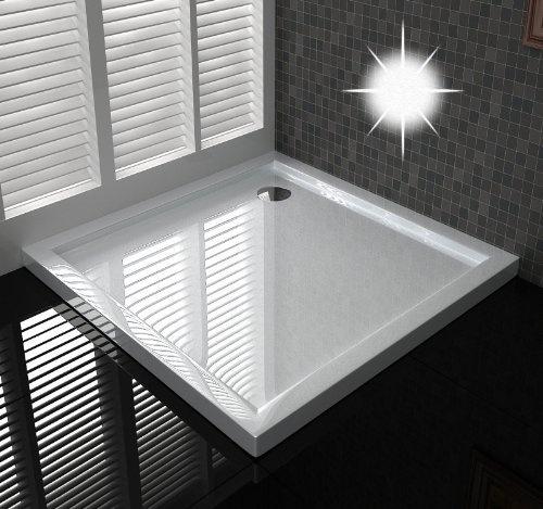 duschtasse duschwanne extra flache 4 cm h he 100x100 cm ablaufgarnitur in der ecke von. Black Bedroom Furniture Sets. Home Design Ideas