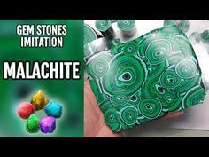 (12) How to Make Faux Malachite stone from Polymer Clay - YouTube