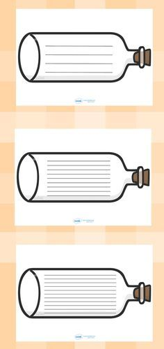 Message in a Bottle Writing Frames Printable resources ....Thousands of…
