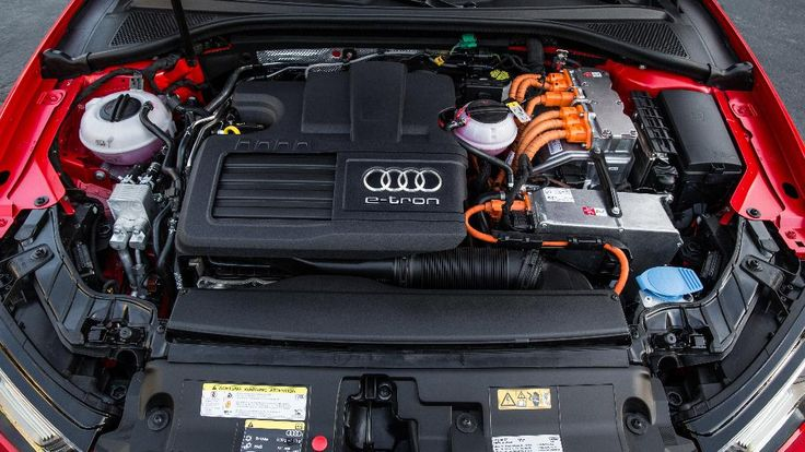 A3 e-tron uses a 1.4 liter turbocharged gasoline engine for fossil-fuel power