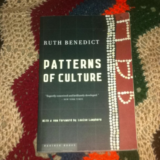 ruth benedict patterns of culture essay American anthropologist and cultural relativist ruth benedict in patterns of  culture (1934) said: morality differs in every society and is a convenient term for .