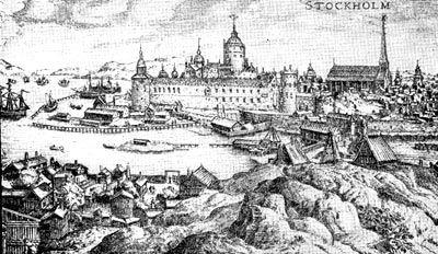 Стокгольм в 1580 г. Гравюра Ф. Гогенберга
