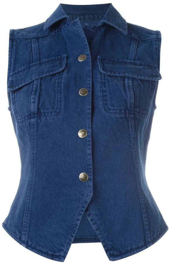 Romeo Gigli Vintage denim waistcoat
