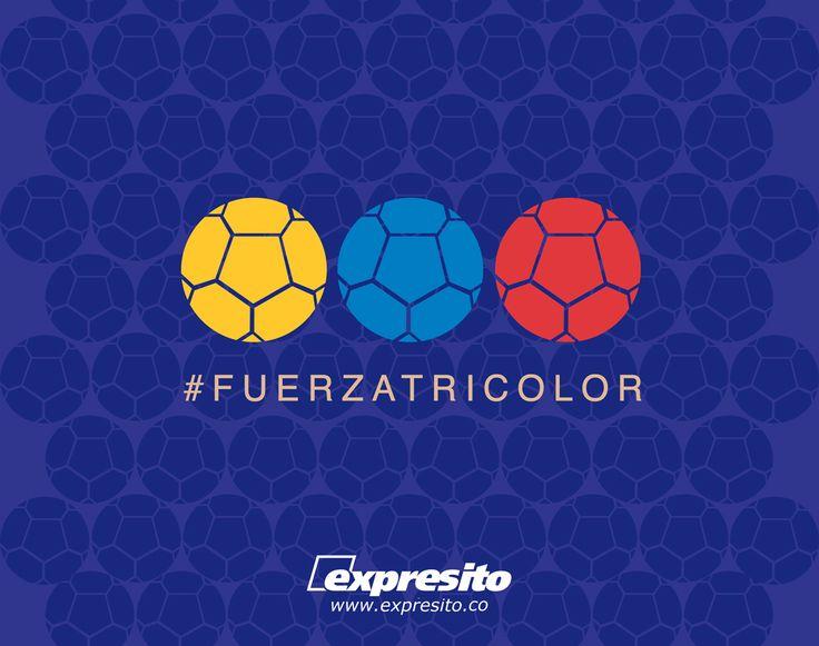 Hoy juega mi selección y todos los Colombianos alrededor del mundo enviamos toda la #FuerzaTricolor para salir vencedores de este gran compromiso. #SiSiColombia #Colombia http://expresito.co/