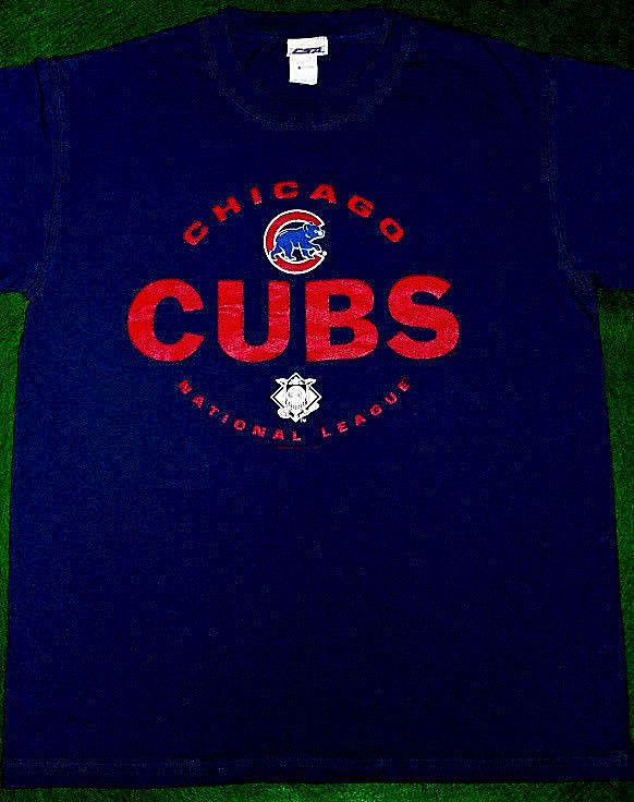 Chicago Cubs Tshirt MLB Merchandise Blue National League Men's Medium CSA Brand #CSA #ChicagoCubs