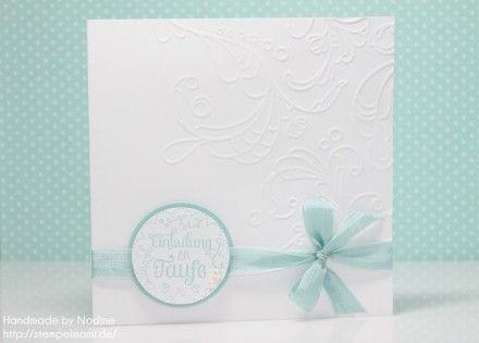 Stampin Up Taufkarte Taufe Karte Card Stempelset Eingeladen Saumband Aquamarin