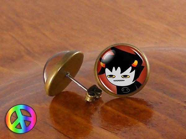 Homestuck Karkat Vantas Fashion Ear Stud Earrings Jewelry Cosplay Prop Art Gift