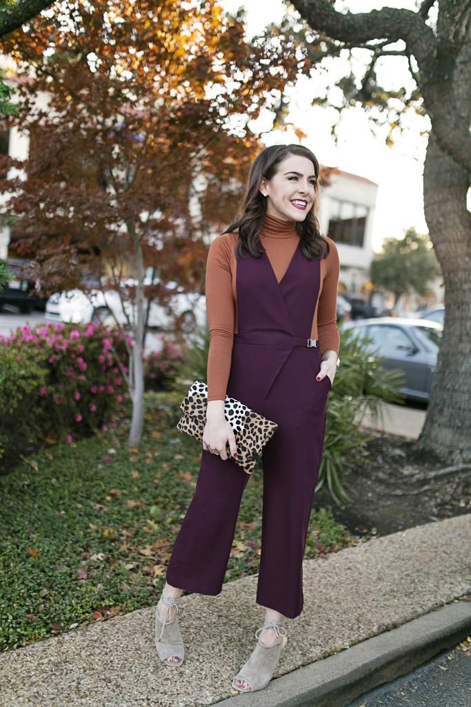Fall Jumpsuit l Thanksgiving Fashion l Fashion Blogger Fashion & Frills l http://fashionandfrills.com/this-thanksgiving-look-is-a-showstopper/